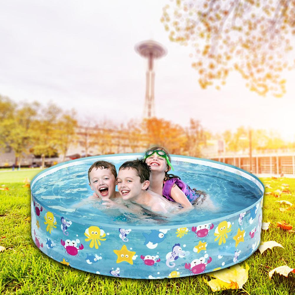 122*25 CM enfants gonflable piscine Marine balle piscine en caoutchouc dur rond infantile baignoire