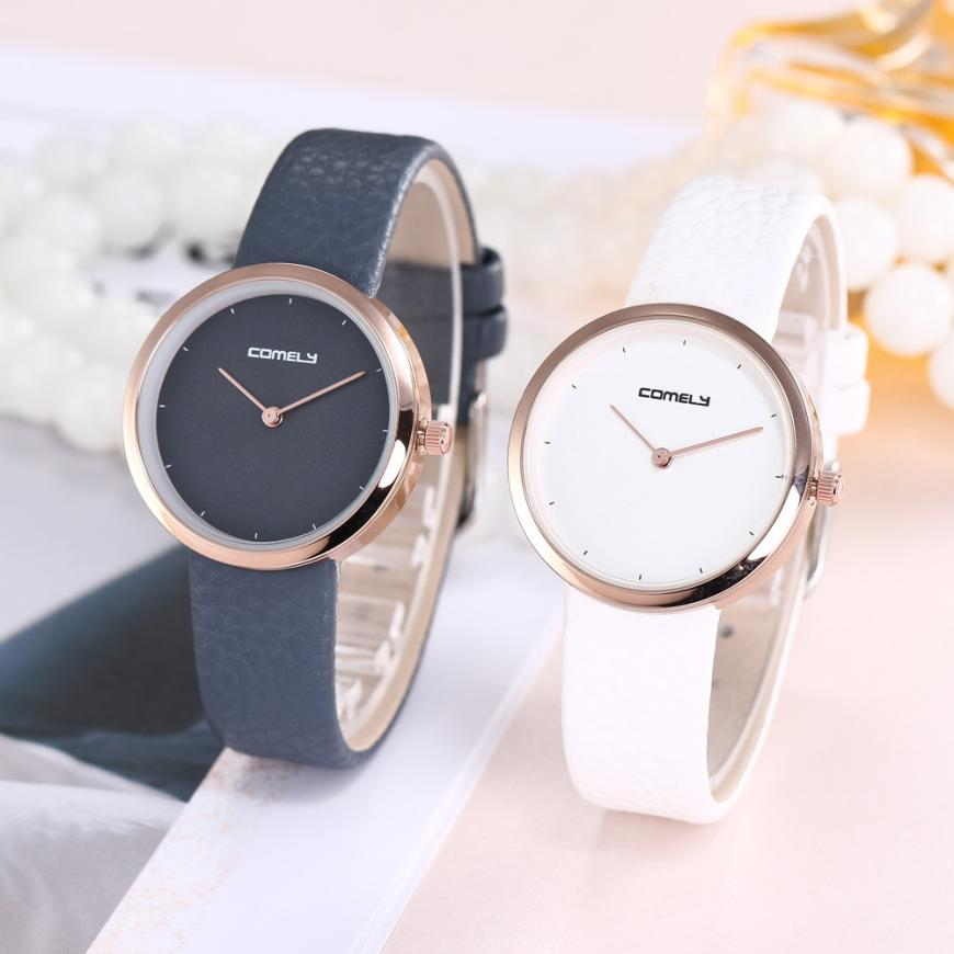 Simple Design Women Men Fashion Leather Band Analog Quartz Round Wrist Watch Watches reloj mujer Horloges Uhren Damen xfcs saat newest 8colors claudia special fashion women stainless steel leather band quartz analog wrist watches dropship reloj mujer