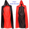 Adult Child Halloween Costume Hooded Cloak Wedding Cape Wicca Robe Women Men Death Devil Halloween Cosplay Costume Clothing