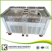 2 square pans with 11 topping panssquare double pan fried ice cream machine ice cream machine roll double roll compressor milk