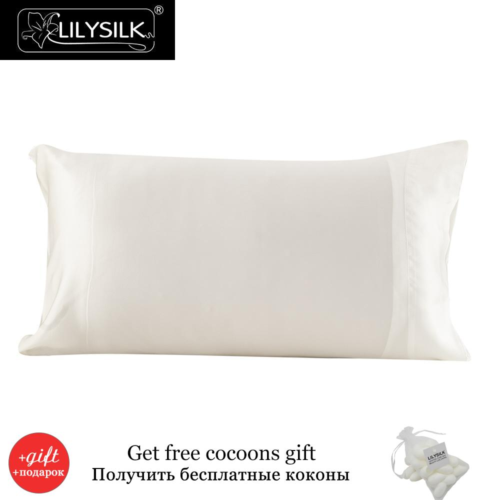 Lilysilk 100 Silk Pillowcase 16 Momme Pure Mulberry Silk for Hair Standard Ivory