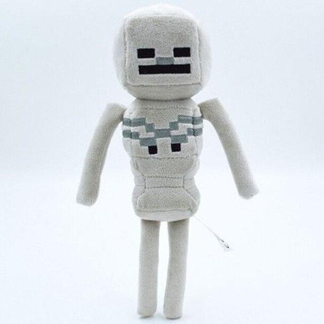 1 peças lote minecraft esqueleto zumbi de pelúcia boneca brinquedos