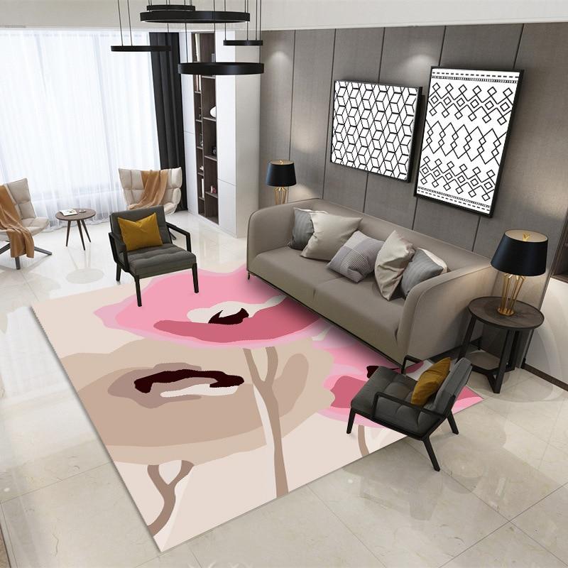4848cm 48D Printen Large Size Carpets For Living Room Carpet Beauteous Carpets For Bedroom Decor