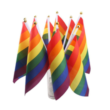 Colorful LGBT Rainbow Flag List Lightweight Polyester Peace Flags Lesbian Gay Parade Banners Home Decoration Accessories