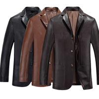 Fashion Men S Genuine Leather Jacket Real Lapel Coat Autumn Spring Motorbike Slim Fit Jackets Tops
