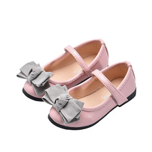 Spring Autumn NEW bowknot baby girl leather shoes Children girls princess shoe Kids toddler dancing party 2-15year