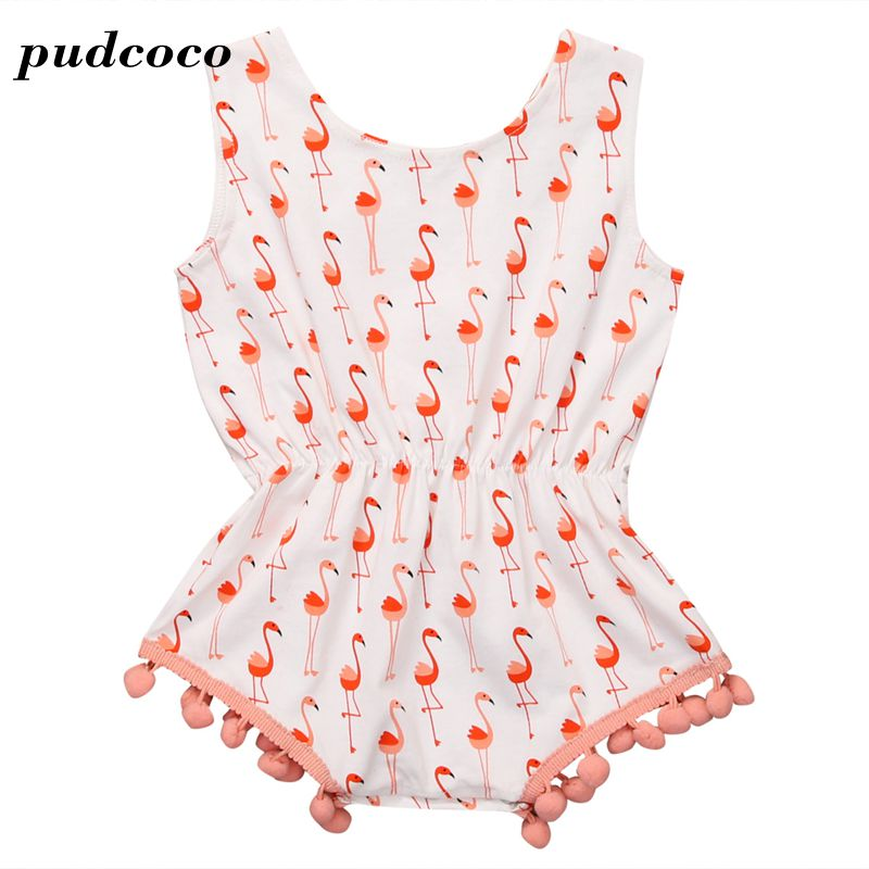New arrival Baby Pink Romper Clothing Body Suit Newborn Short Sleeve Kids Girls Tassel Rompers Baby Clothes Infantil