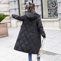 Winter Women Zippers 2019 New Cotton coat female Korean Style Thicken Long Coat With Packets padded jacket cotton clothing G