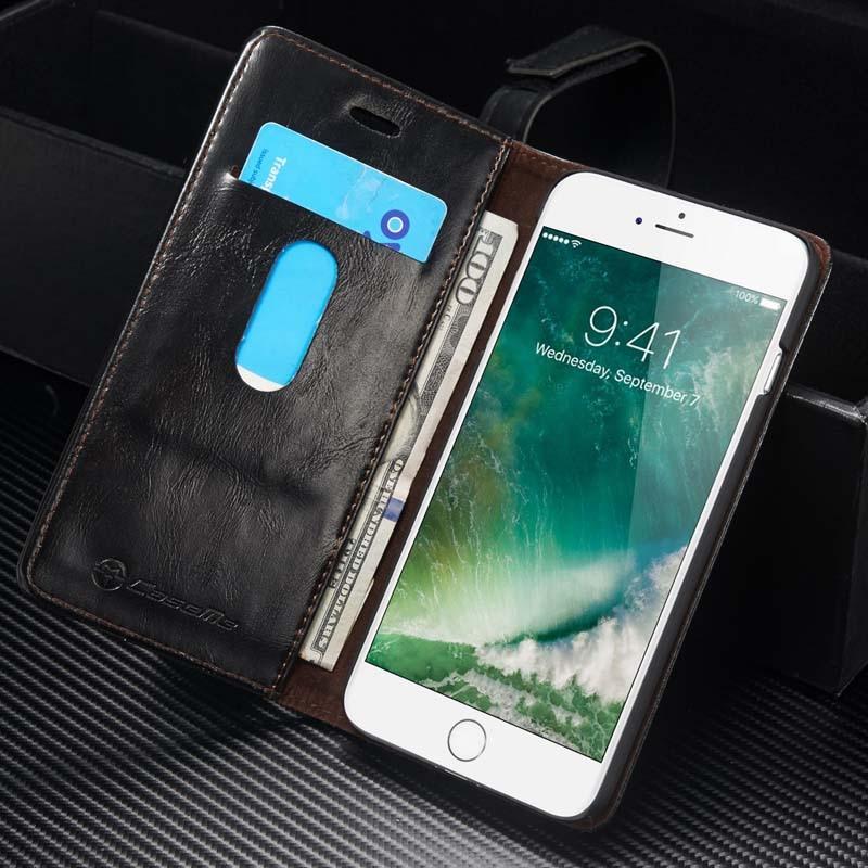 Մատուցել պատյան iPhone 6S 6 5S PU կաշվե - Բջջային հեռախոսի պարագաներ և պահեստամասեր - Լուսանկար 3