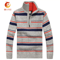 2017 New Men' S Sweaters Long Sleeve Knitwear  Color Stripes Short Zip & Jacket Men 's Jacket V-Neck Knitted Pullover Men