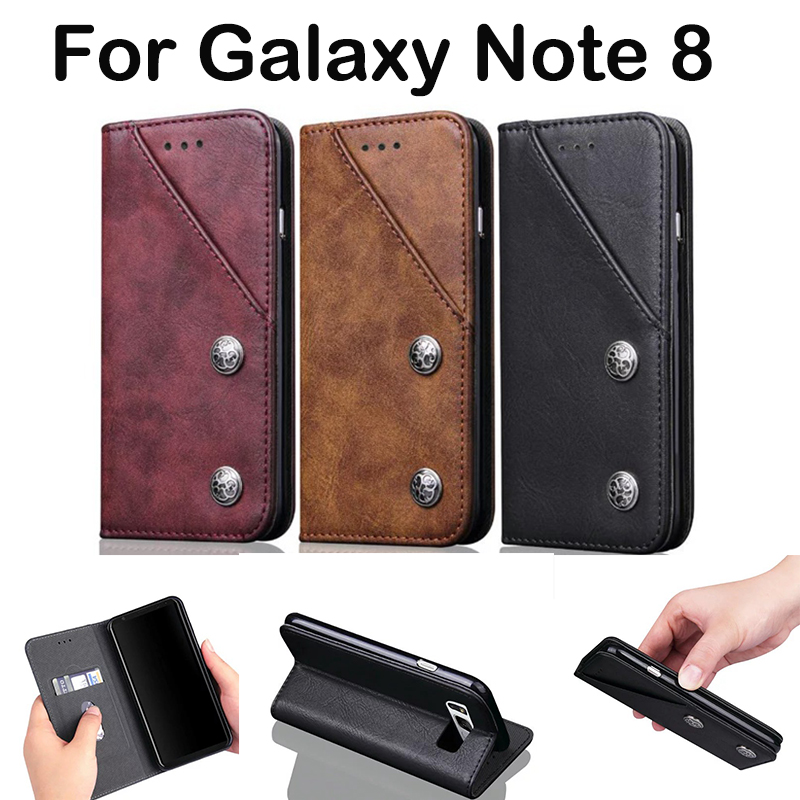 san francisco 777ee a8e24 US $7.99 20% OFF|New Design Flip Leather Phone Case Cover For Samsung  Galaxy Note 8 Case N5100 Card Holder For Samsung Note 8 Case Ultra Slim  Men-in ...