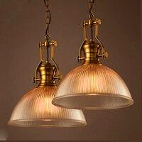 Modern Pendant Lighting Vintage Retro Glass Bedroom Restaurant Lamp E27 Bulb Kitchen Lighting pendant Lamp ZDD0019