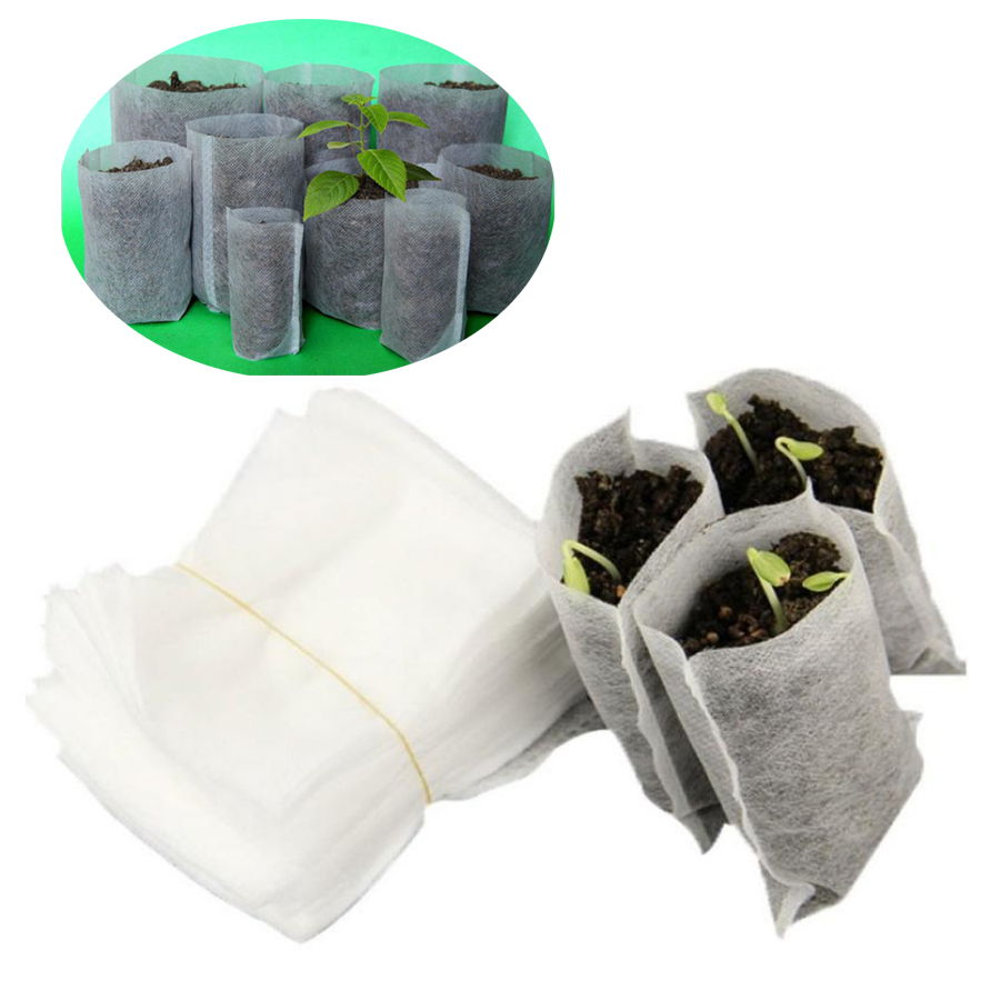 100pcs nursery nursery bag breeding bag gardening supplies environmental protection nursery container potted seedling non woven in Grow Bags from Home Garden