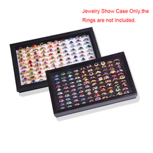 100 Slots Rings Display Stand Storage Box  Jewelry Organizer Holder Show Case Casket #228405