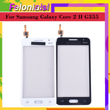 10Pcs G355 For Samsung Galaxy Core 2 II SM-G355H G355H G355 G355M Touch Screen Panel Sensor Digitizer Glass Touchscreen NO LCD чехол для для мобильных телефонов oem 1 bling samsung core 2 g355h for samsung galaxy core 2 g355h