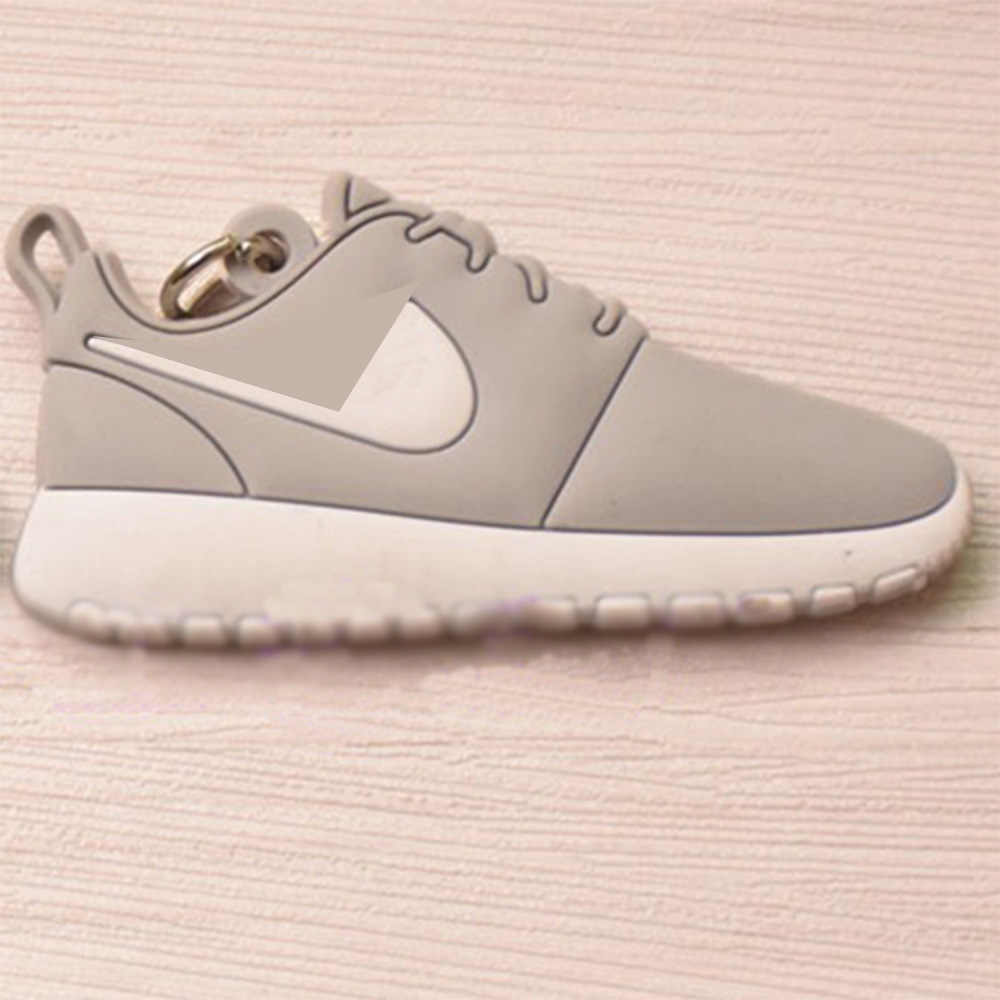 Mini Silicone Roshe Run Sapatos Homens Mulher Kids Presentes Chave Anel Keychain Charme Saco Chave Titular Acessórios Chave Jordan Sneaker cadeia