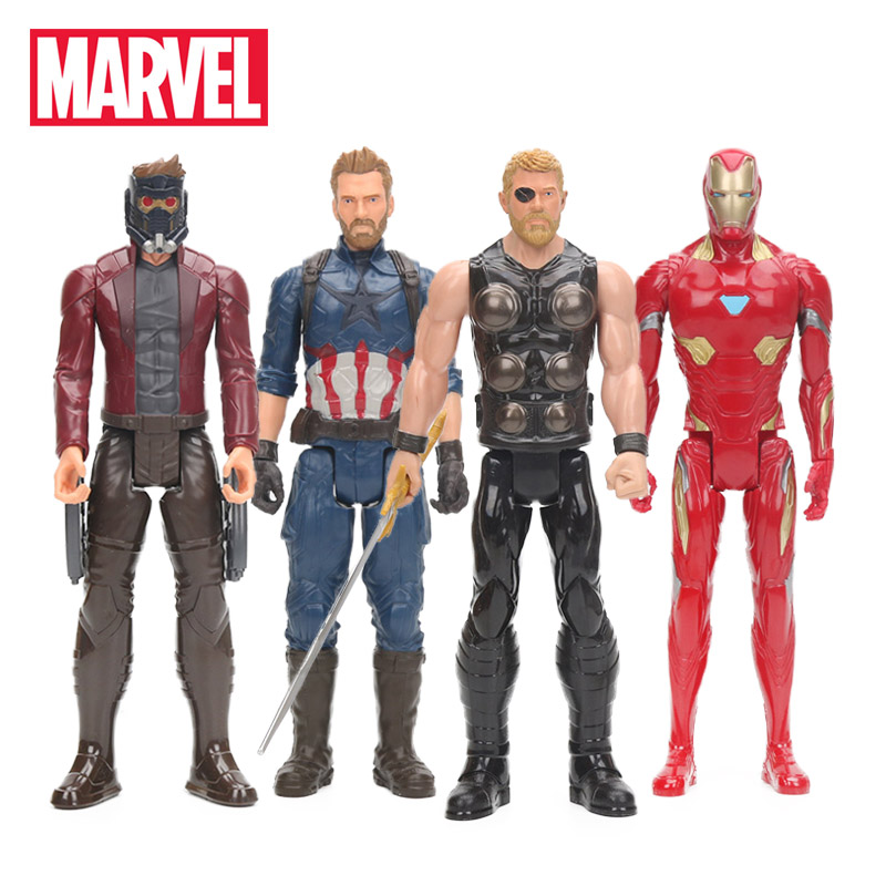 Marvel Toys 30cm Avengers 3 Infinity War Thor Star Lord Captain America Ironman Figure Titan Hero Series Colletible Model