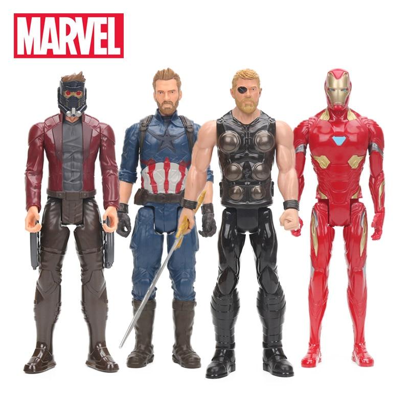 2018 Marvel Toys 30cm Avengers 3 Infinity War Thor Star Lord Captain America Ironman Figure Titan Hero Series Colletible Model