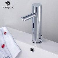 Yanjun кран с инфракрасным датчиком Бесконтактный кран для раковины автоматический смеситель для ванной комнаты отеля YJ_6621