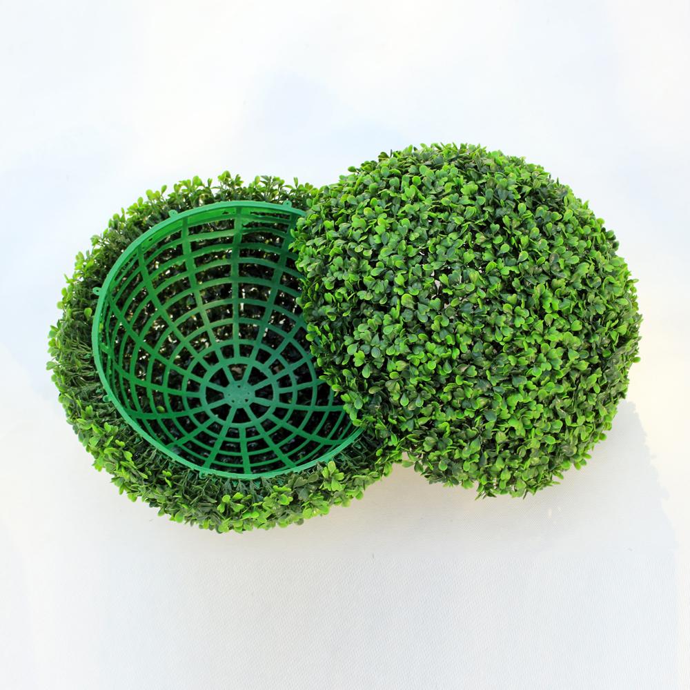 ULAND 48CM Decorative Artificial Grass Ball Plastic Leaf Effect Hanging Green Grass Ball Decoration Artificial Topiary Ball 5