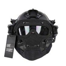 OneTigris Тактический Быстрый Шлем PJ Тип с Защитные маски и Mesh Маска для Страйкбола Пейнтбол