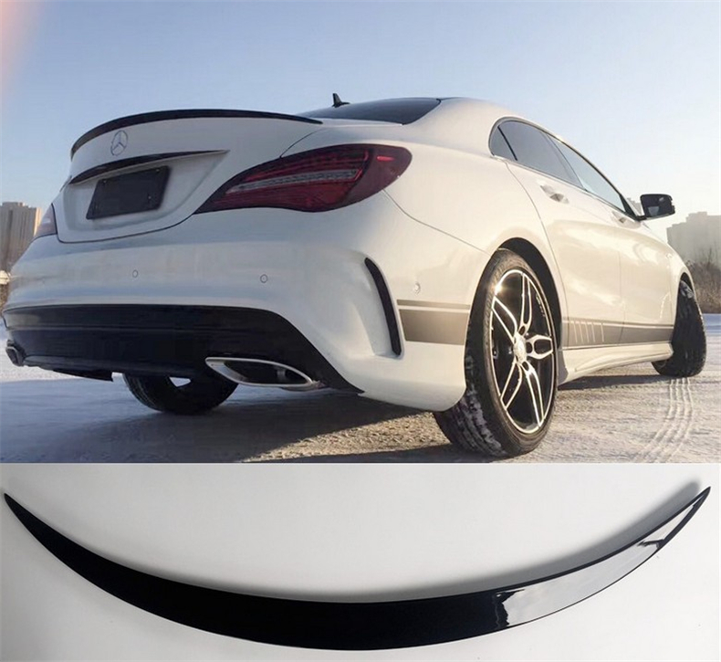 Car Spoiler For Mercedes-Benz CLA Class W117 CLA45 AMG CLA180 200 220 CLA260 2014-2017 ABS Rear Wing Spoilers Auto Accessories frp black trunk spoiler boot wing for mercedes benz cla class cla250 cla200 cla180 cla220 cla260 sedan 2013 2014 non amg