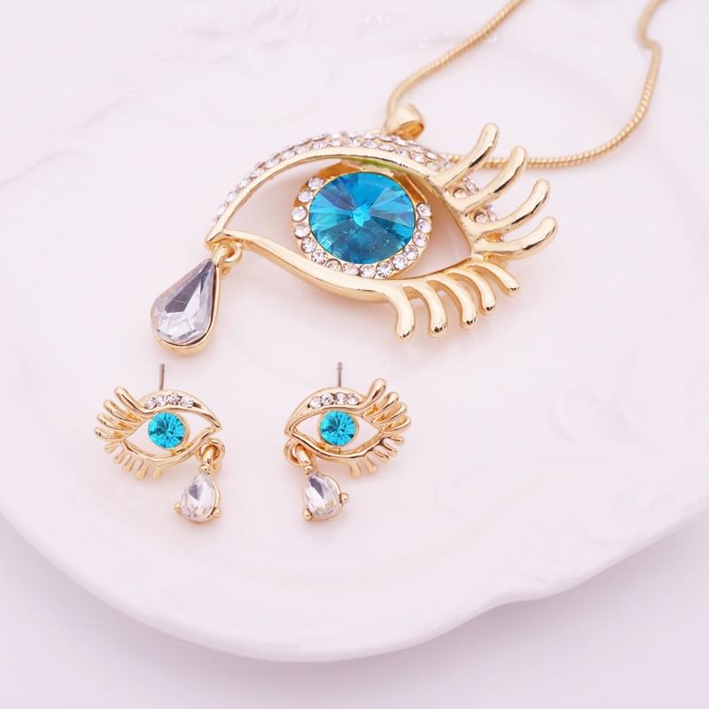 Κομψό Teardrop Eye Κρίσταλ Κοσμήματα Σετ - Κοσμήματα μόδας - Φωτογραφία 2