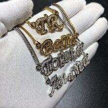 Personalizado iced nome pingente jóias femininas