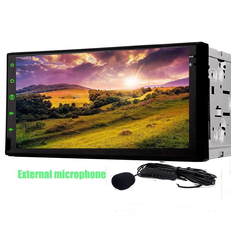 Двойной DIN Сенсорный экран чистый андроид 6.0 dvd-плеер автомобиля GPS стерео Радио Dual Core <font><b>1</b></font> ГБ Процессор 2 DIN Multimidia