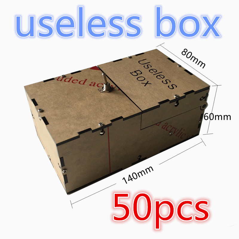 wholesale 50pcs Transparent Useless Box Kit Leave Me Alone Box Great Geek Gift Fully Assembled DIY