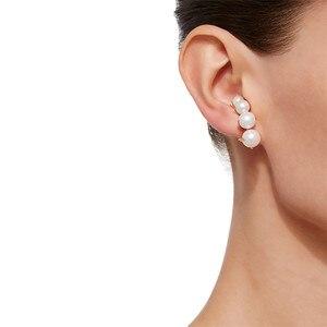Image 4 - Europäische und Amerikanische mode nische marken allmählich ändern Perle ohr nägel weibliche übertreibung temperament vintage ohrringe