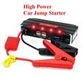 2017 High Power Petrol Diesel 12V Multi-Function Car Jump Starter Poratble 4USB Phone Laptops Power Bank SOS Lights Free Ship