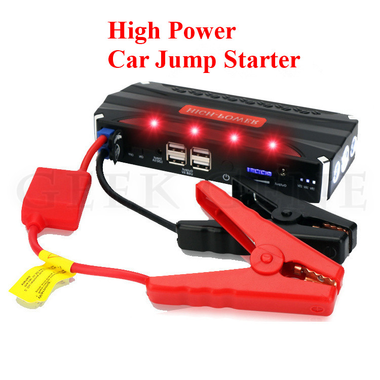 New High Power 68800mAh 12V Multi Function Car Jump Starter Poratble 4USB Phone Laptops Power Bank