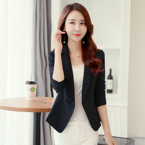 J62369 High Quality  Summer Fashion OL Candy Color Wave Lady Blazers And Jackets