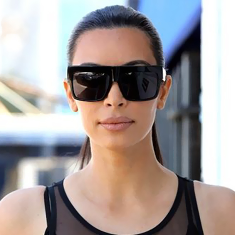 VictoryLip Square Selebriti Pereka Jenama Itali terkenal Kim Kardashian Sunglasses Lady UV400 Wanita Lelaki Kacamata Matahari 50S Perempuan