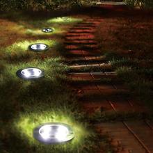YUNLIGHTS  Solar Ground Lights Waterproof 5 LED Landscape Path Light Walkway Lamp for Home Garden Yard Driveway Lawn