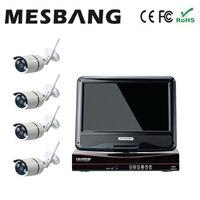 Mesbang 960 P P2P 4ch loja loja escritório câmera de cftv IP sistema de monitor sem fio 10 polegada entrega por DHL Fedex livre grátis