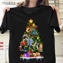 цена на Elvis Presley Christmas Tree T Shirt Elvis Presley Fans Black Cotton Men S-3XL O-Neck Fashion Casual High Quality Print T-Shirt