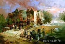 Современного искусства Города Амстердам виллема Haenraets картины для гостиной Ручная роспись Высокое качество