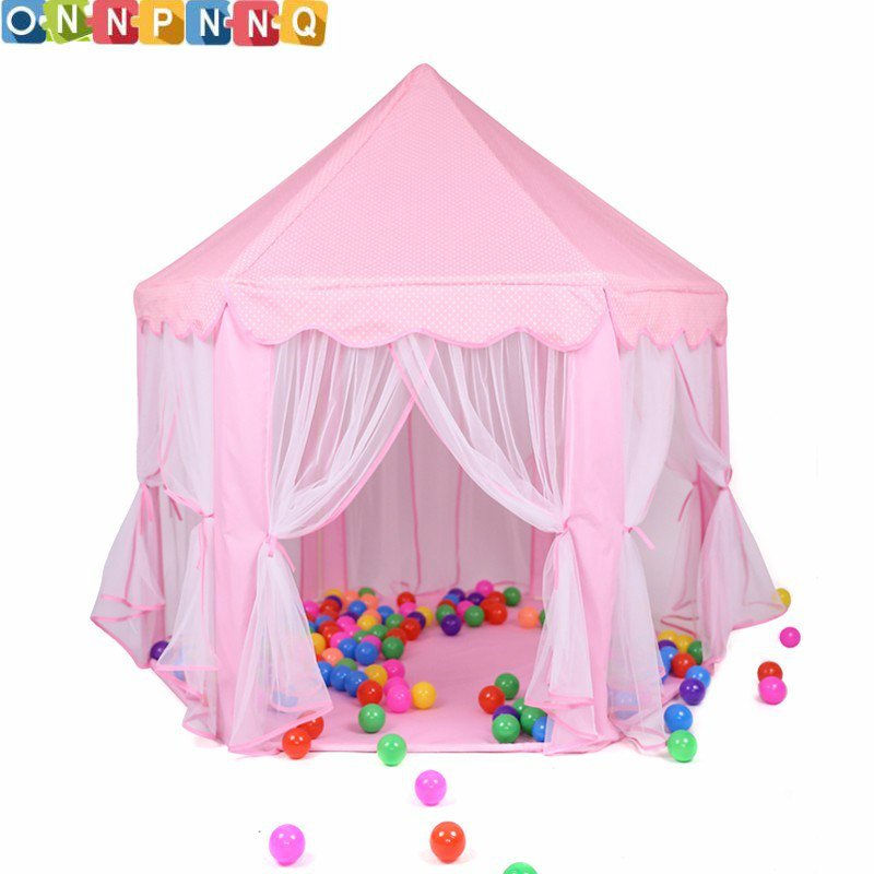 Portable Princess Castle Play Toy Tent Children Activity Fairy House kids Indoor Outdoor Playhouse Beach Tent <font><b>Baby</b></font> playing Toy