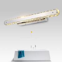 Modern Crystal Bathroom Mirror Light Fashion Designer Bedroom Led Mirror Headlights Free Shipping