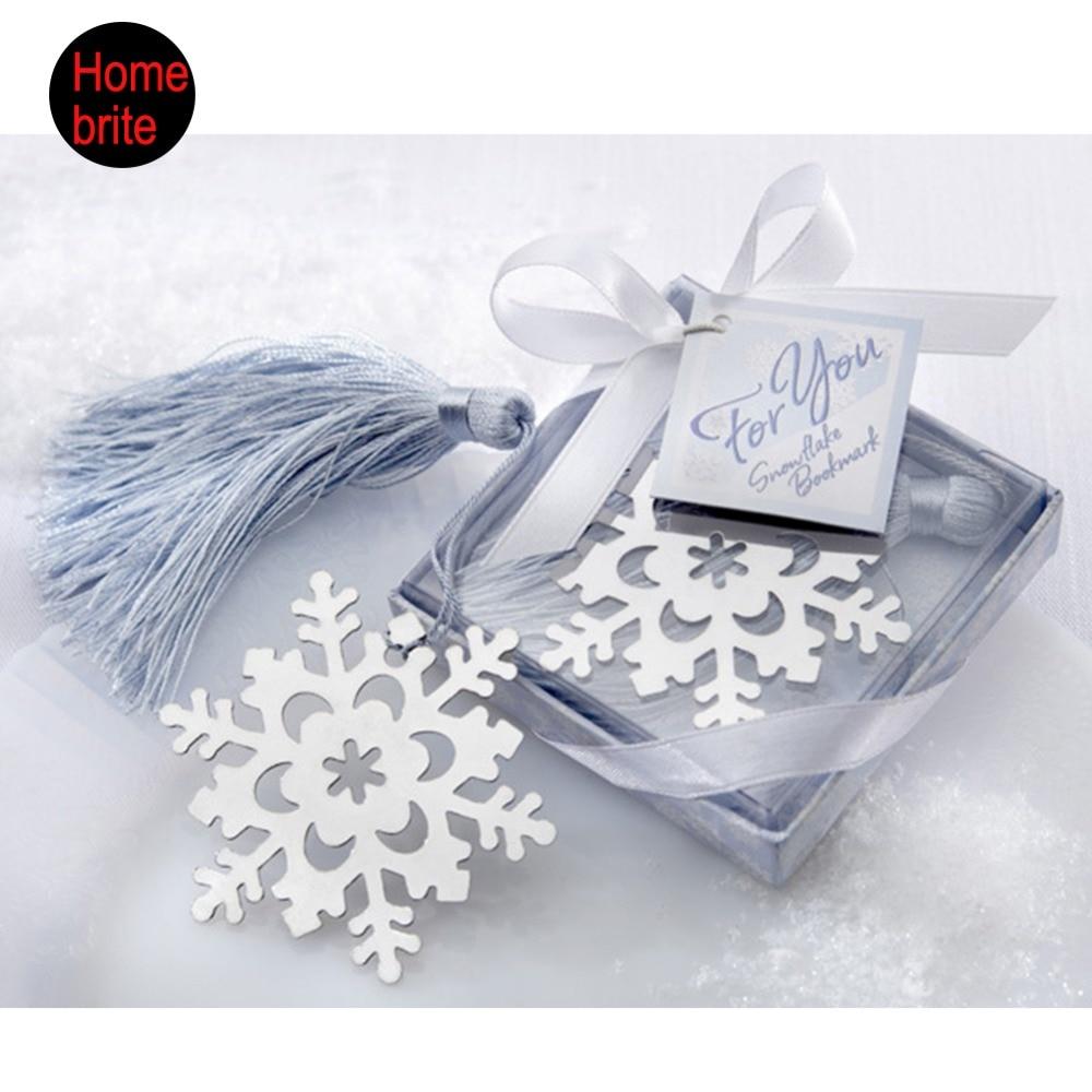 10 PCS Creative Snowflake Bookmark Bear Butterfly Heart Wedding ...