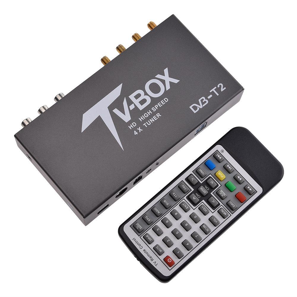 DVB T2 Numérique TV Converter Box Rapide Décodage Mobile Voiture TV Analogique Tuner Haute Vitesse 80 km/h Signal Fort Récepteur