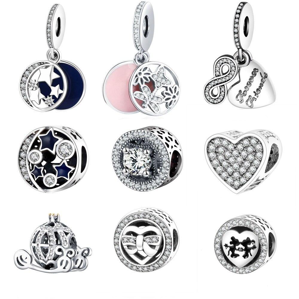 Fit Pandora Charm Bracelet Original 925 Silver Charms Bead Daisy Openwork Charm With Clear Zircon Jewelry Berloque 2016 Winter