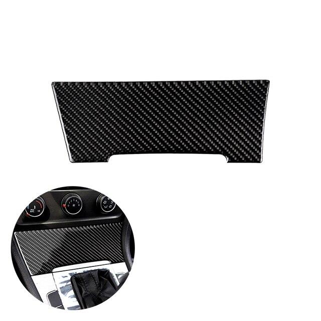 ل VW Golf 7 MK7 السابع 2013 2014 2015 2016 2017 ألياف الكربون سيارة مركز وحدة التحكم ولاعة السجائر غطاء لوحي