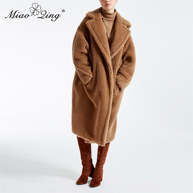 Femmes Faux Laine Long Terry Pardessus D agneau Manteau De Hairly Fourrure  Survêtement Dames D hiver camel Vestes Surdimensionné Parka Chaud ... 02458aa1a35e