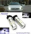 2 x PW24W LEVOU Luz de Circulação Diurna DRL Lâmpada de Substituição para VW Golf MK7 Golf7 Golf VII (2013-up com xenon farol apenas)