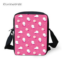 ELVISWORDS Fashion Women Messenger Bags Cartoon Animal Pattern Shoulder Little Horse Girls Flaps Handbags Mini Kids Mochila