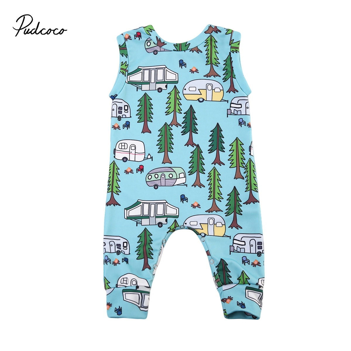 Puseky 2018 Baby Clothing Sleeveless Rompers Newborn Toddler Infant ...