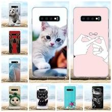 For Samsung Galaxy S10 Plus Case TPU G975F G975U G975W Cover Cute Pattern Shell